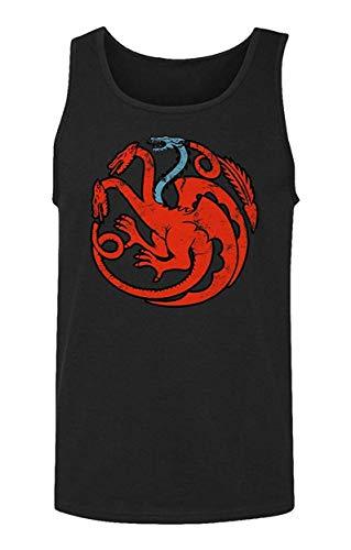 Allforenjoy Camiseta sin Mangas con Estampado de Moda y Estampado de dragón de Tres Cabezas Hombres