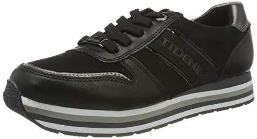 TOM TAILOR Damen 9095501 Sneaker, Black, 38 EU