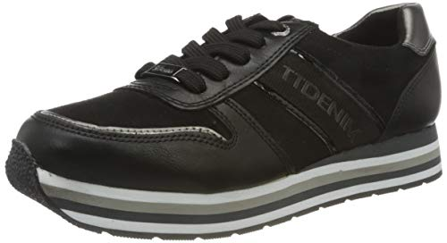 Tom Tailor 9095501, Zapatillas Mujer, Negro, 37 EU