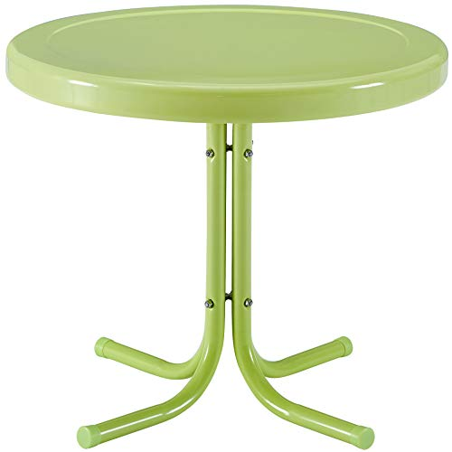 Crosley Furniture CO1011A-KL Griffith Retro Metal Outdoor Side Table, Key Lime