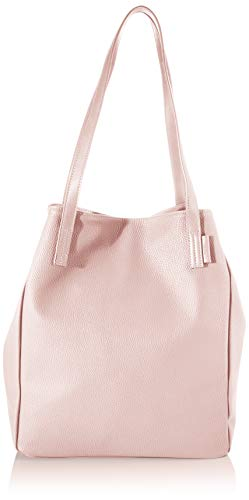 TOM TAILOR Denim Schultertasche Damen, Rosa, Arona, 41/30x14x35 cm, Shopper groß, Handtasche