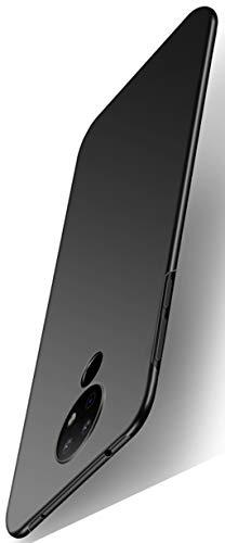 XINFENGDI Handyhüllen für Nokia 7.2,Hartplastik Schutzhuelle Dünn & Leicht Bumper Stossfest Bruchsicher Staubsichere Handyhülle,Hülle Against,Tasche Panzer Hülle Hardcase-Schwarz