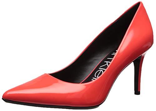 Calvin Klein Women's Gayle Pump, Pink Flrscnt Patent, 5.5M M US