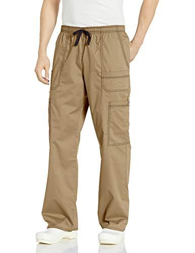 Dickies Men's GenFlex Utility Drawstring Cargo Scrubs Pant, Dark Khaki, X-Large