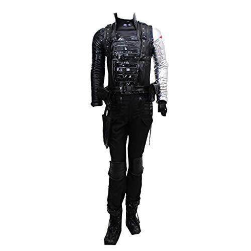 CosplayDiy Men's Suit for The Winter Soldier Bucky Barnes Cosplay Costume cm Black