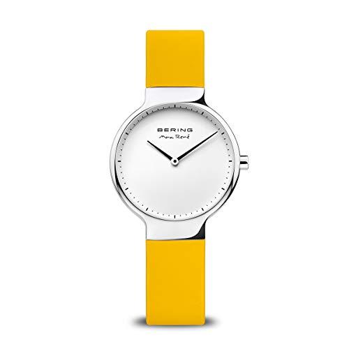 BERING Reloj Analógico Max René Collection para Mujer de Cuarzo con Correa en Silicona y Cristal de Zafiro 15531-600