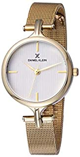 Daniel Klein Womens Quartz Watch, Analog Display and Stainless Steel Strap DK11914-6