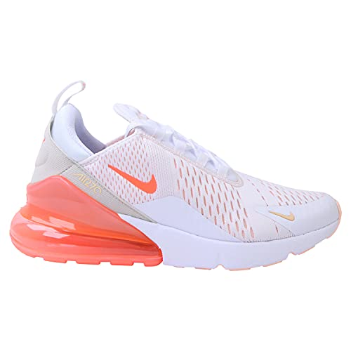Nike Wmns Air MAX 270 ESS, Zapatillas para Correr Mujer, White BRT Mango Crimson Tint Pearl White, 36.5 EU