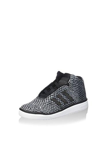 adidas Veritas Mid I - Zapatillas para niños, Color Negro/Blanco, Talla 26