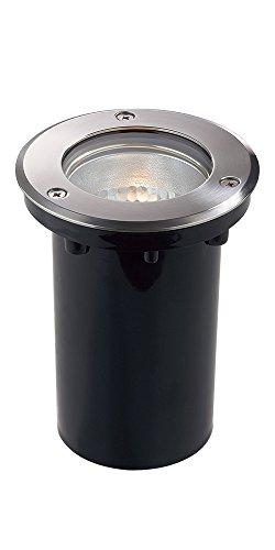 Ideal Lux 032825 PARK PT1 MEDIUM, Spot À Emboîter Au Sol Ou Au Mur. Corp Lumineux Extérieur en PVC. Parabole Réfléchissante en Aluminium. Cadre Circulaire Ferme Acier Mat. Verre Transparent, E27, 60 W