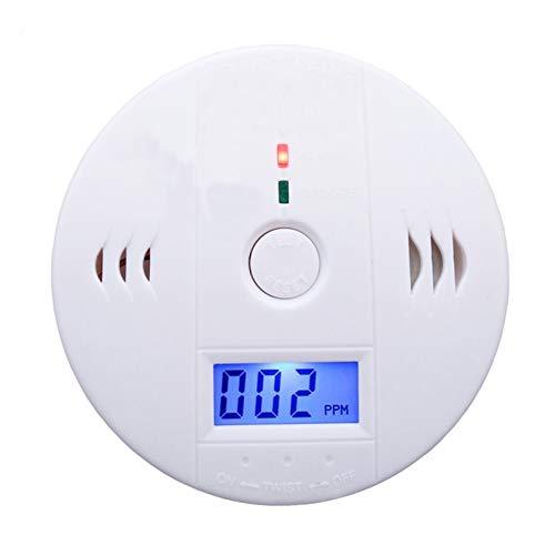 Aibecy Alarme de fumaça e monóxido de carbono Detector de fumaça Detector de monóxido de carbono alimentado por bateria com tela LCD Aviso de voz