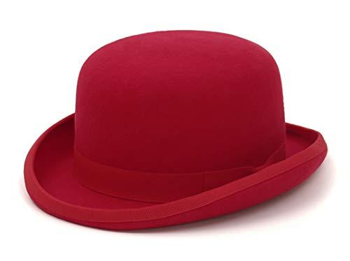 MARRYME-Sombrero Bombn 100% Lana Sombrero de Copa Sombrero Presidencial Sombrero Mgico Gorros Jazz Sombrero de Invierno Unisex Tamao Ajustable con Forro de Satn