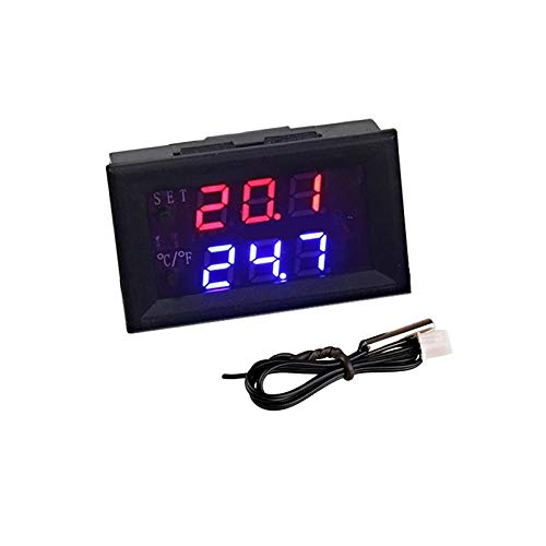 Mini regulador de termostato de microordenador DC 12V 20A Termómetro ajustable digital -50-110