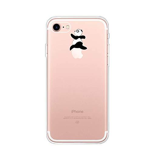 CrazyLemon para iPhone 5S 5 / iPhone SE 1 generación Funda, Gel de Silicona Ultra Funda Blanda Creativa de TPU Funda Resistente a los arañazos para iPhone 5S 5 SE - Panda Valla