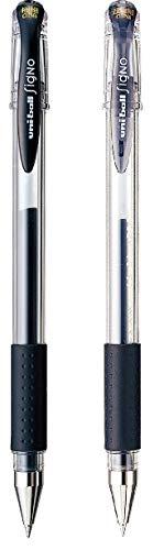 Bundle Signo - Penna a sfera uni-ball UM-151, 0,38 mm e UM-151-28, 0,28 mm, colore: Nero