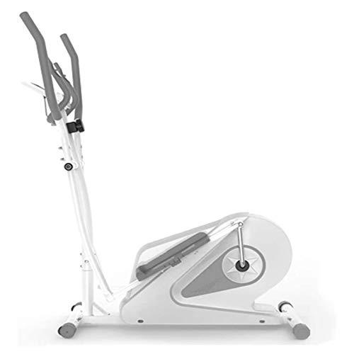 Equipo de fitness 2-IN1 Entrenador de cruce elíptico Ejercicio Bike-Fitness Cardio Weightloss Worklout Machine-con asiento + Pulso Sensores de frecuencia cardíaca Cruz Entrenador - Pequeño, robusto y