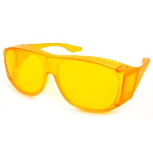 27c9c339010 Amazon.com  Solar Shield Fits-Over Sunglasses - SS Polycarbonate II Yellow    SOLAR SHIELD II YELLOW POLYCARBONATE LENSES  Clothing