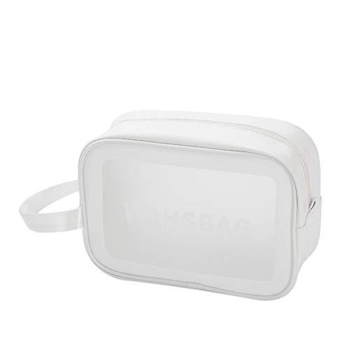 iSpchen Trousse de Toilette Transparent, Sac de Voyage Trousse de Maquillage Étanche Sac de Rangement Portable Sac de Maquillage avec poignée
