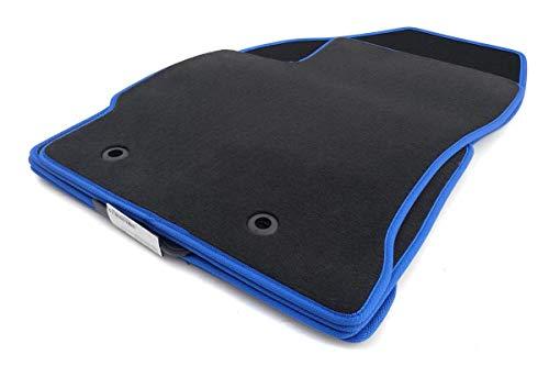 Auris Fußmatten/Velours Automatten Original Qualität Stoffmatten 4-teilig mit blauem Band