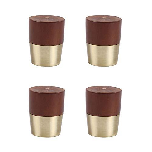 SHOP YJX 1/4 piezas de muebles de madera maciza para sofá, muebles y sillas de comedor, pie de madera para mesa de té, accesorios de pie (color: 10 cm)