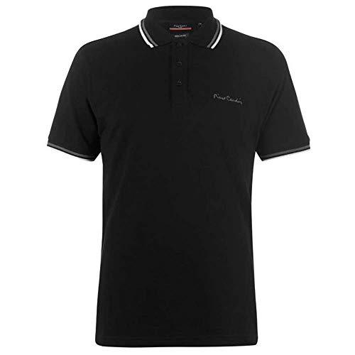 Pierre Cardin Herren-Poloshirt mit Kipp-Kragen, kurzärmeliges Shirt, Oberteil Gr. 56, Schwarz