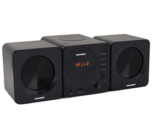 Telefunken MC1002M Stereoanlage (PLL-Tuner, UKW, CD/CD-R/CD-RW, MP3, USB, Line-In, Fernbedienung)