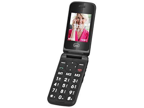 Oferta de TREVI Flex Plus 55, Teléfono Móvil con Teclas Grandes Ideal Personas Mayores. Botón SOS y números de Emergencia.