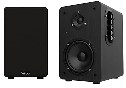 Wiibo Neo 100 - Altavoces Bluetooth Portátiles Vintage - Altavoces Inteligentes HiFi - Altavoces Estantería - Potencia 100W - 250 mm x 180 mm x 300 mm - Color Negro