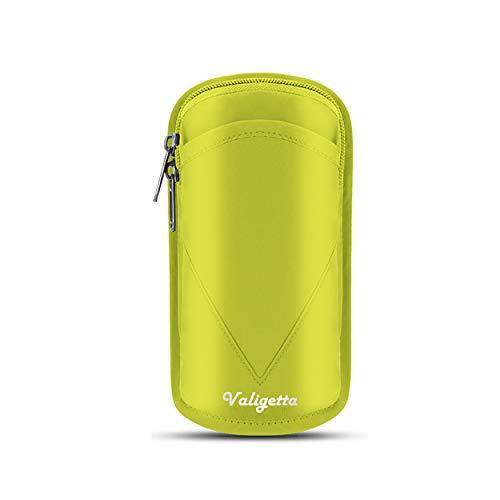 """Valigetta Funda para móviles Universal de 6,5"""" - Estuche Impermeable con Cierre para móvil – Ciclismo y Otros Deportes. (Amarillo)"""