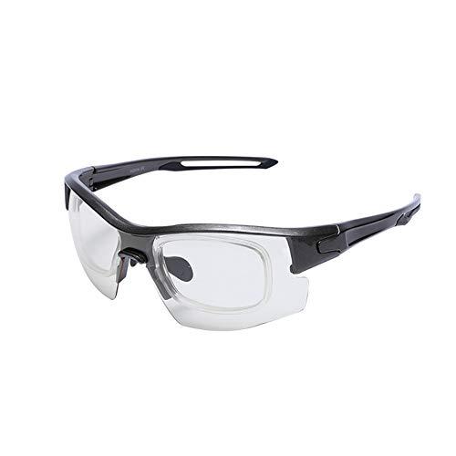 SSDAOO Farbwechselgläser Mit Austauschbaren Linsen Sport Sonnenbrille Mountainbike Reitenbrillen,Schwarz