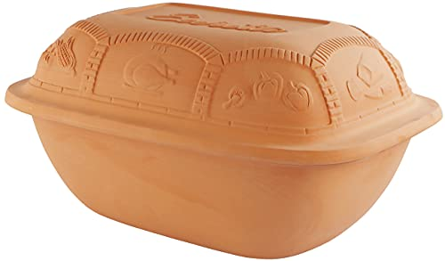 Eurita by Reston Lloyd Clay Cooking Pot/Roaster, All-Natural Cooking