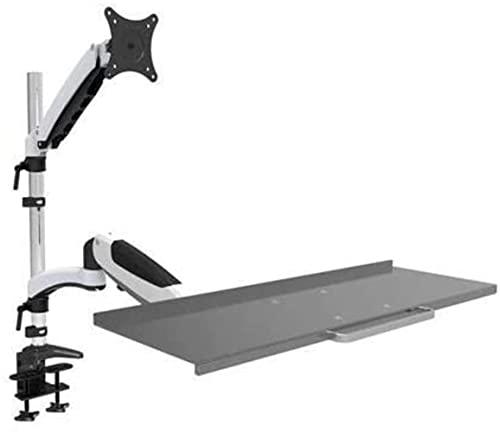 El resorte ergonómico de aleación de aluminio de gas sigue sentado monitor + soporte de teclado de cuerpo completo soporte de monitoreo de brazo