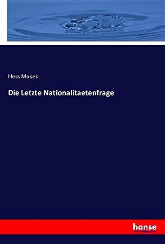 Die Letzte Nationalitaetenfrage