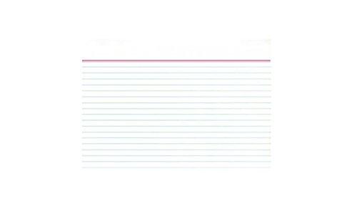 Idena 375043 - Karteikarten DIN A8, liniert, 200 Stück, 180 g/m², weiß