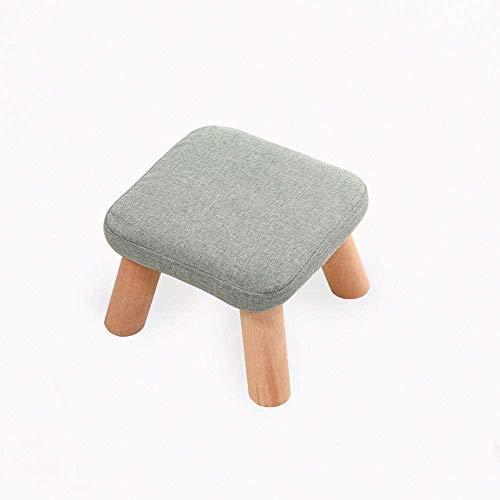 Barhocker Osmanischen Sitzhocker Fußablage Moderne Minimalist kleine quadratische Hocker abwaschbar und deckungs Schuh Bench Stoff Sofa Hocker Mode Pilz Hocker QAF1014 (Color : Turquoise)