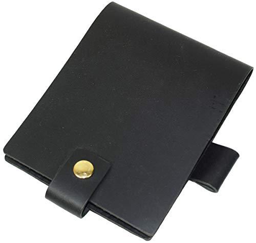 B7 メモ用紙カバー 本革 レザー ティーポレザー ペンホルダー付き B7サイズ ブックカバー B-0178 (ブラック)