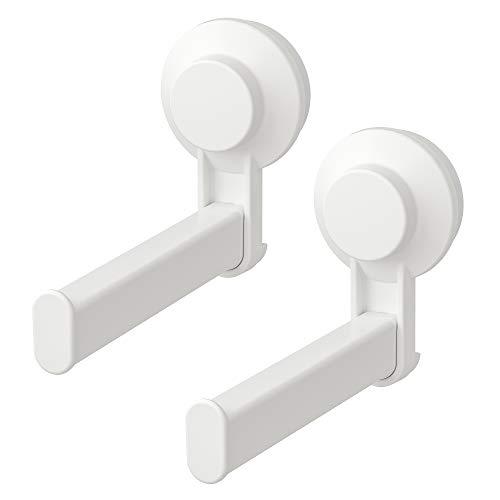 Ikea TISKEN Toilettenpapierhalter mit Saugnapf; in weiß; 2 Stück