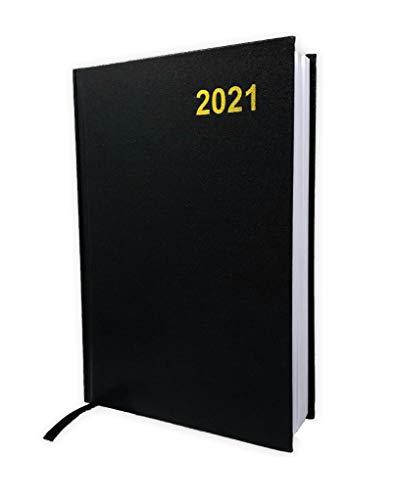 Buchkalender 2021 Terminplaner Bürokalender Cheftimer Hardcover Schwarz DIN A5 332 Seiten
