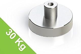 H=8 mm Grade N35 Bohrung 5.5 mm Topfmagnet mit Bohrung und Senkung D=32 mm