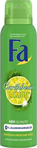 FA Deospray Caribbean Lemon Exotisch-frischer Duft, 6er Pack (6 x 150 ml)