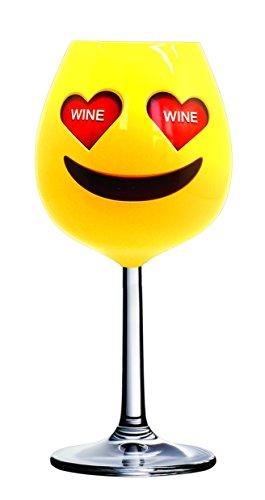 DCI XL corazón Ojos Emoji Copa de vino