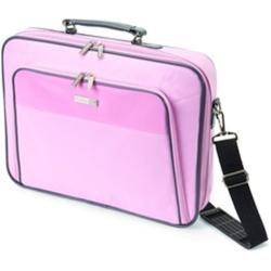 Dicota Base XX 15'-17.3' Large Laptop Case Bag Optional Shoulder Strap Pink with Grey Trim