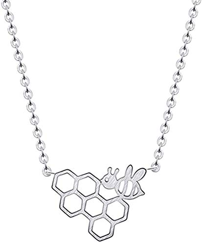 huangxuanchen co.,ltd Necklace Charms Necklace Link Chain Necklace Jewelry for Women Cute Little Bee Shape Beauty Girl Necklace