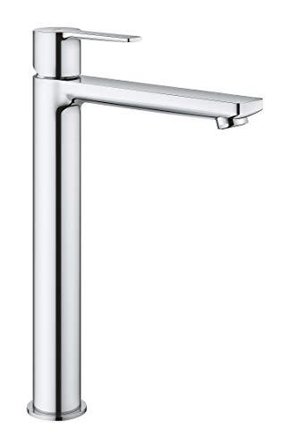 Grohe Lineare - Grifo de lavabo, monomando con caño extra alto, para...