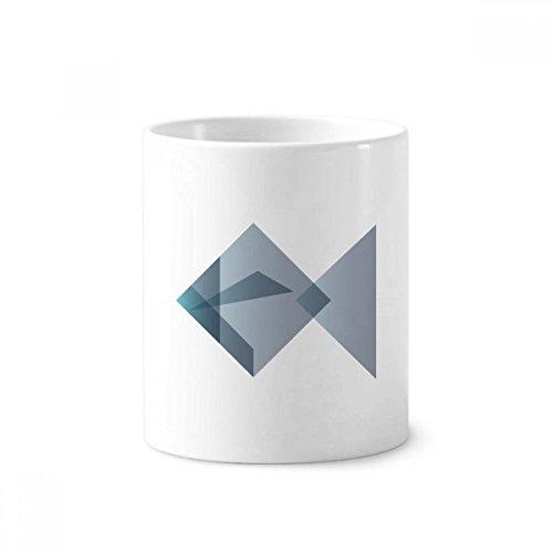 Origami Abstrakt Fisch Geometrische Form Keramik Zahnbürste Stifthalter Becher weiß Tasse 350ml Geschenk