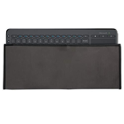 kwmobile Hülle kompatibel mit Microsoft All-in-One Media Keyboard - PC Tastatur Schutzhülle - Keyboard Staub Cover Case - Dunkelgrau