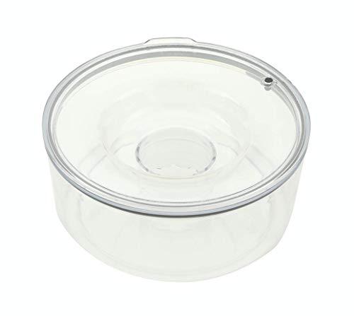 "Slopper Stopper Dripless Water Bowl, Tritan Plastic Unit, 1 Gallon, 9.84"" Dia (Large Breeds 50-85 Lbs -Plastic Bowl Lid(1 Gal) Unit)"