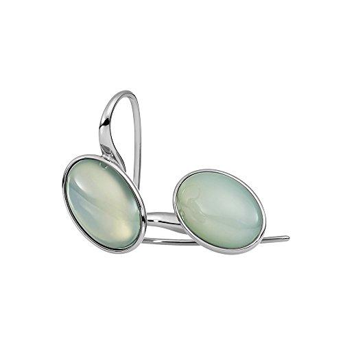 Metal Damen-Pendientes acero inoxidable Calcedonia verde - 411979G0