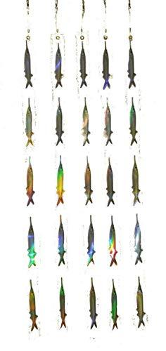 EatMyTackle Ballyhoo Teaser Strips - 5 Reflective Bait Fish Teasers (5 Pack)