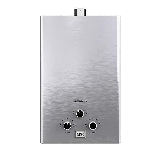 Instant-Gas-Warmwasserbereiter, Erdgas-Warmgas-Warmwasserkessel, elektrischer Abluftventilator,niedriger Wasserdruck und schnelle Erwärmung (Color : Natural Gas, Size : 12L)